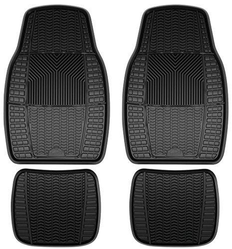 Custom Accessories Armor All 78895 4-Piece Black Heavy Duty Rubber Floor Mat