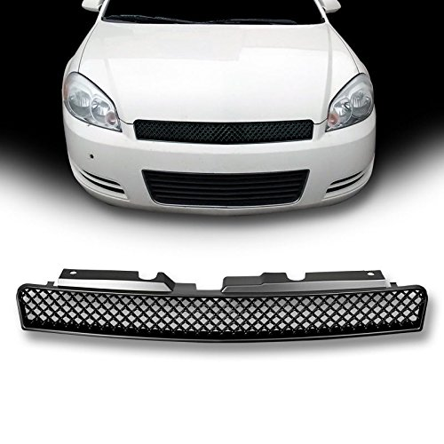 VXMOTOR for 2006-2013 Chevy Impala/for 2014-2016 Limited/for 2006-2007 Monte Carlo Matte Black Luxury Sport Mesh Front Hood Bumper Grill Grille Cover Conversion