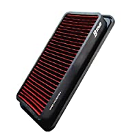 Upgr8 U8701-3909 Hd PRO OEM Replacement High Performance Dry Drop-in Panel Air Filter (Red)