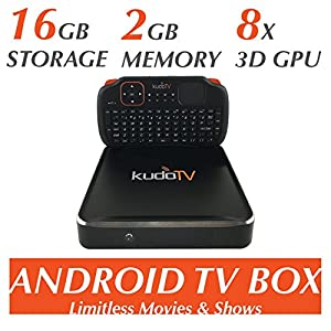 KudoTV KD1 Pro Android TV Box Fully Loaded KODI Quad/Octo