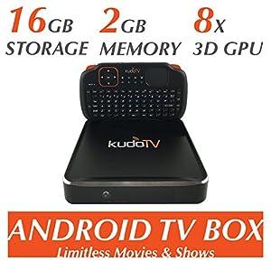 KudoTV KD1 Pro Android TV Box Fully Loaded KODI Quad/Octo Core 2GB