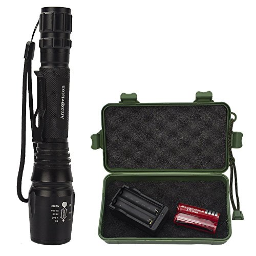 Led Flashlight 1000 Lumens Tactical Flashlights Rechargeable Led Torch with Lanyard 5 Modes Water Resistant Large Torches Light For Cycling Hiking Camping Hunting Backpacking Fishing Emergency