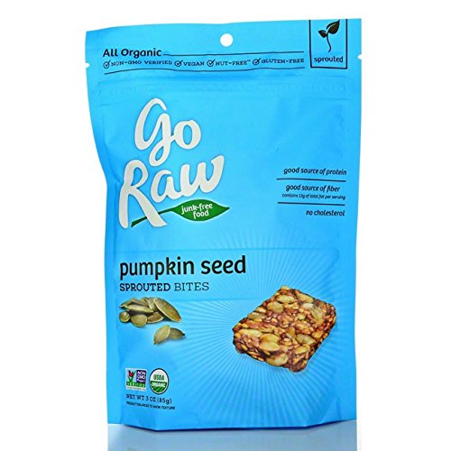 Go Raw Organic Superfood Sprouted Bites, Pumpkin Seed (pack of 6 bags)