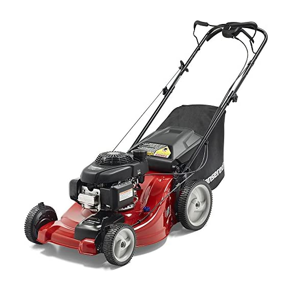 Jonsered L2821, 21 in. 160cc GCV160 Honda 3-in-1 Walk Behind Front-Wheel-Drive Mower 1 Powered by 160cc Honda GCV160 engine with 6.9 ft-lbs Gross torque Dual trigger control system allows you to operate with either hand, or split the effort between both. High-tunnel cutting deck design delivers premium cut quality and bagging performance while providing a close trim, every time.
