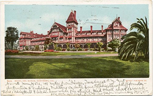 Vintage Postcard Print | Hotel Del Monte, Monterey, Calif., 1898 | Historical Antique Fine Art - Monte Monterey Del