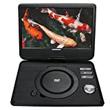 Koramzi Portable 10'' Swivel DVD Player with Rechargeable Battery / USB&SD reader / AV Out / Headphone Jack / Remote Control/ AC-DC power adaptor/ Multi-region DVD format- PDVD-1010