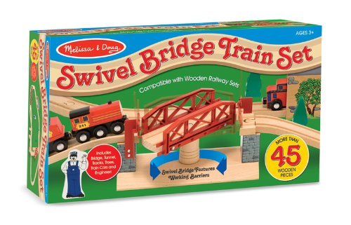 Melissa & Doug Swivel Bridge Train Set (Pack Of 1) from Melissa & Doug