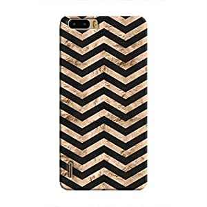 Cover It Up - Brown Black Tri Stripes Honor 6 Plus Hard case