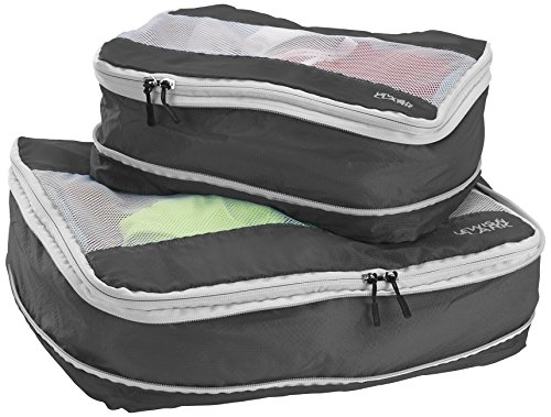 Lewis N. Clark Electrolight Packing Cube Set 2-Pack, Charcoal, One Size