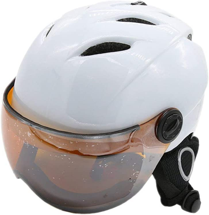 Playdo Ski//Snowboard Helmet Lightweight Warmth Professional Snow Sports Helmets with Attached Detachable Photochromatic Polarizing Goggles