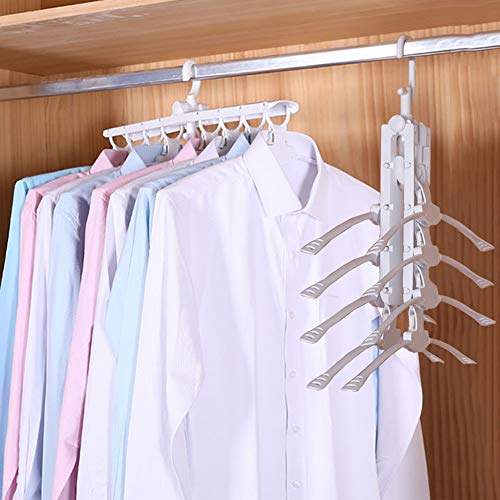 Mary Fast Shop 8 in 1 Hangers,Magic Folding Clothes Rack,Mul