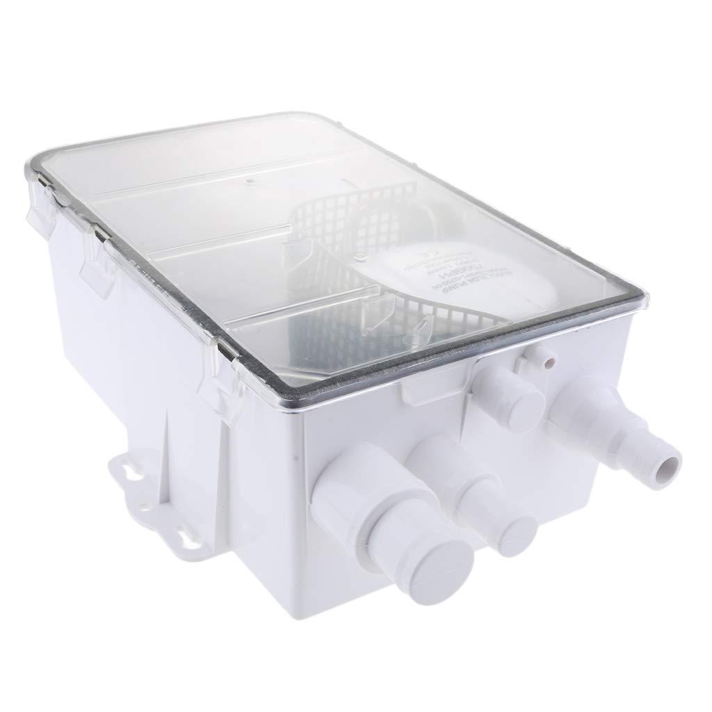Baosity Boat Marine Automatic Shower Sump Pump System 600 GPH 12V Standard Box