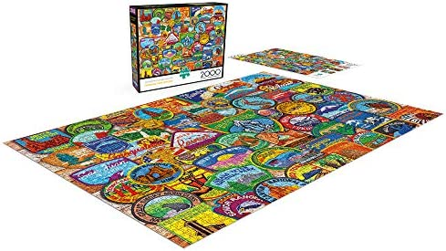 Buffalo Games Puzzle National Park Patches 2000 Pieces New /& Sealed