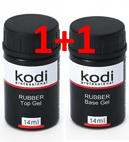 (Professional Rubber Top & Base Gel Set By Kodi | 14ml 0.49 oz | Soak Off, Polish Fingernails Coat Kit | For Long Lasting Nails Layer | Easy To Use, Non-Toxic & Scentless | Cure Under LED Or UV Lamp)
