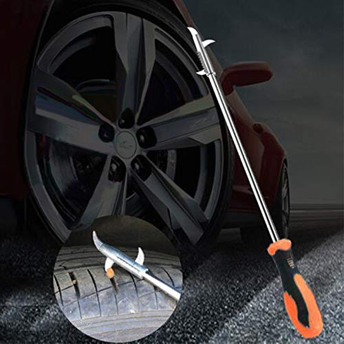 EDTara Car Tire Cleaning Hook Repair Tools, Auto Tyre Protector Groove Stones Remover Hooks