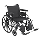 PLA422FBFAAR-ELR - Viper Plus GT Wheelchair with Flip Back Removable Adjustable Full Arms, Elevating Leg Rests, 22 Seat