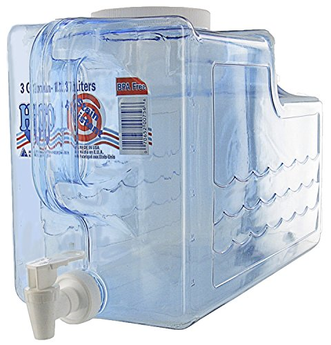 Arrow Home Products 00756 Beverage Dispenser, 3-Gallon, Clear (Dispenser Plastic Tea)