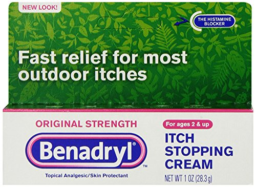 Benadryl Itch Stopping Cream, Original Strength, 1 Ounce (Pack of ()