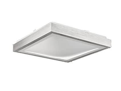 Plafoniere Quadrata : Plafoniera hydra q quadrata alluminio spazzolato cm