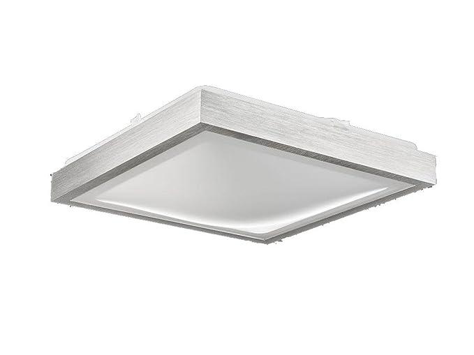 Plafoniere Quadrata : Plafoniera hydra q quadrata alluminio spazzolato 37 x cm: amazon