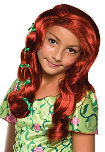 Poison Ivy Fancy Dress Costumes (Rubie's Costume Girls DC Super Hero Poison Ivy Wig)