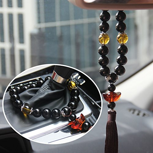 Silence Shopping Automobile Gear Beads Car Hanging Decor Ornament Decoration Rearview Mirror Glass Peace - Glass Shopping