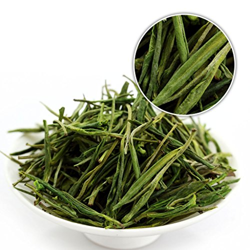 GOARTEA® 100g (3.5 Oz) Organic Premium Huang Shan Mao Feng Yellow Mountain MaoFeng Spring Leaf Chinese GREEN TEA - Huangshan Maofeng Green Tea