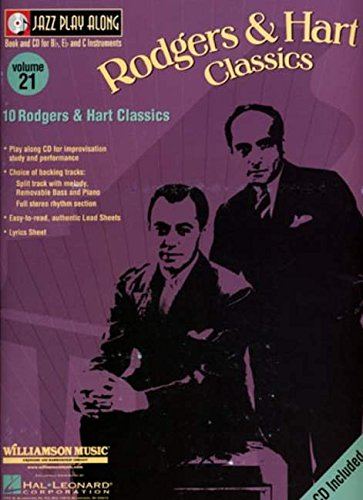 Rodgers & Hart Classics: Jazz Play-Along Volume 21 (Jazz Play Along Ser) by Hal Leonard