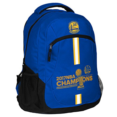 FOCO Golden State Warriors 2017 NBA Champions Kevin Durant #35 Action Backpack by FOCO