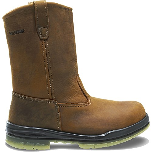 Wolverine Men's W03258 Durashock Waterproof Steel-Toe Boot,Malt,11.5 XW US