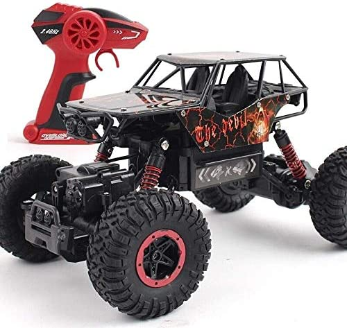 MKKSLR Rock Crawlers Off -Road Rock Climbing Electric Crawler Monster Truck Vehicle 2.4Ghz Radio Remote Buggy Hobby Shockproof Boys 'Suprise Gift for Boys Black