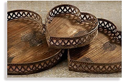 Vassoi In Legno Fai Da Te : Vassoio a forma di cuore ciotola in legno di abete guscio in legno