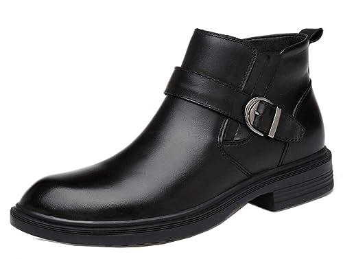 bbb71e028bf5e Easemax Homme Classique Low Boots Boucle Plate Soulier Evénement Bottines   Amazon.fr  Chaussures et Sacs