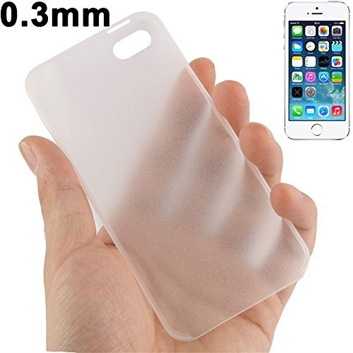 Apple iPhone SE 5S Case 5 Ultra-Thin, Fone-Stuff® - 0.3mm dur fini mat de couverture en blanc givré (Comprend protecteur d'écran)