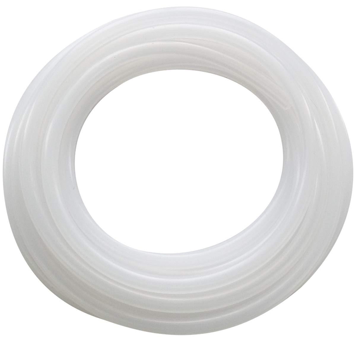 Pure Silicone Tubing-Flexible Hose Pipe Food Grade Hoses, High Temp Tube, 1/4