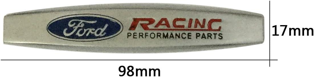 2PCS Racing  METAL SIDE REAR FENDER EMBLEM BADGE STICKER SIZE 98MM