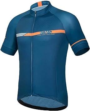ROTTO Maillot Ciclismo Hombre Camiseta Ciclismo Manga Corta Maillot MTB Serie de línea Simple: Amazon.es: Deportes y aire libre