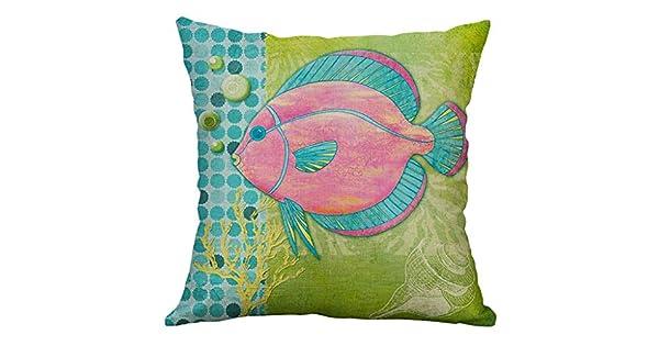 Amazon.com: Fundas de almohada de Unionm, decoración de lino ...