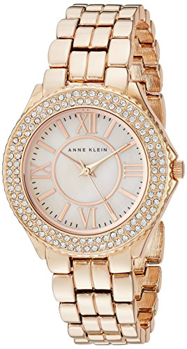 Anne Klein Women's AK/1462RMRG Swarovski Crystal Accented Rose Gold-Tone Bracelet Watch