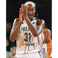 fan products of TINA CHARLES signed (NEW YORK LIBERTY) WNBA Basketball 8X10 photo W/COA #1 - Autographed NBA Photos