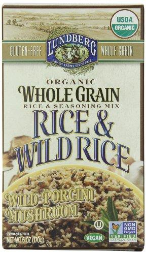 Wild Fresh Mushrooms (Lundberg Family Farms Organic Whole Grain and Wild Rice, Wild Porcini Mushroom, 6 Ounce (Pack of 6))