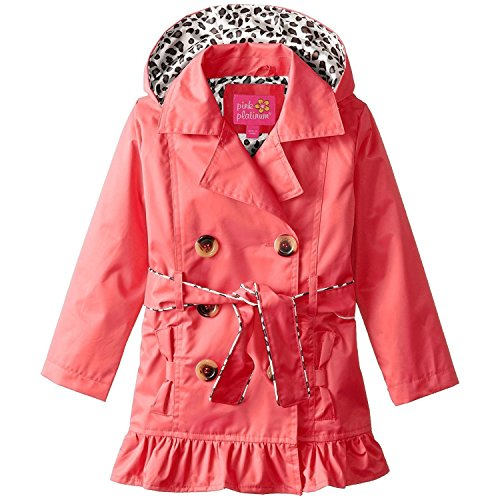 pink platinum trench rain jacket - 1