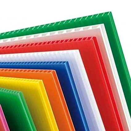 Green Correx Plastic Fluted Exterior Board. Sized to A1 841x594mm (Pack of 3) Foamboard Warehouse