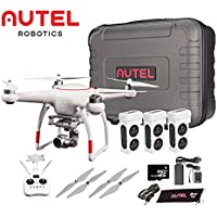 Autel Robotics X-Star Premium Drone with 4K Camera, 1.2-mile HD Live View & Hard Case & Manufacturer Accessories (White) +extra 2x Autel Robotics Battery (Li-Po with 4900mAh, 14.8V) (White)