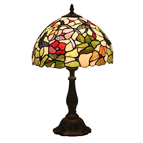 Stained Glass Lampshade Patterns.12 Inch Tiffany Style Table Lamp Stained Glass Butterfly