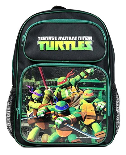 Disney Universal Studios Nickelodeon Marvel Multi Color School Backpacks (Teenage Mutant Ninja Turtle Black)