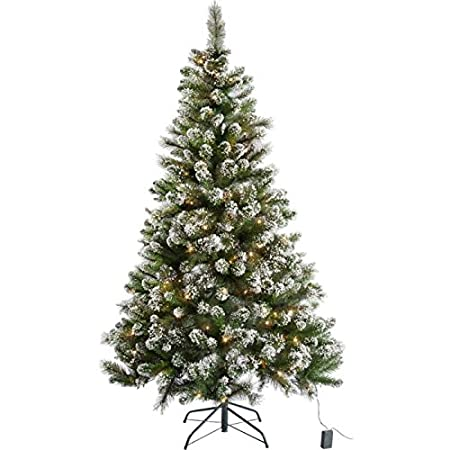 Pre Lit Snow Tipped Christmas Tree with 180 Lights - 6ft - Pre Lit Snow Tipped Christmas Tree With 180 Lights - 6ft: Amazon.co