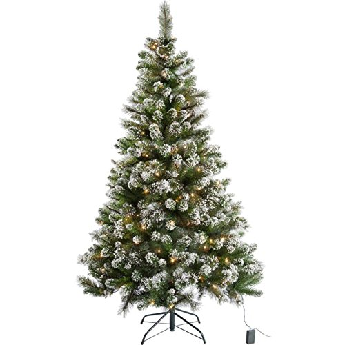 Pre Lit Snow Tipped Christmas Tree With 180 Lights 6ft Amazon  - 6 Ft Christmas Tree