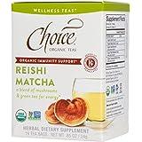 Choice Organic Teas Wellness Tea, Reishi Matcha, 16 Count, Pack of 6