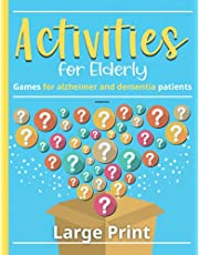 Dementia Activities for Elderly: Games for Alzheimer and Dementia Patients. Large Print book with Simple Memory Game for seniors. Dot to Dot, trivia, Odd-one-Out and More...